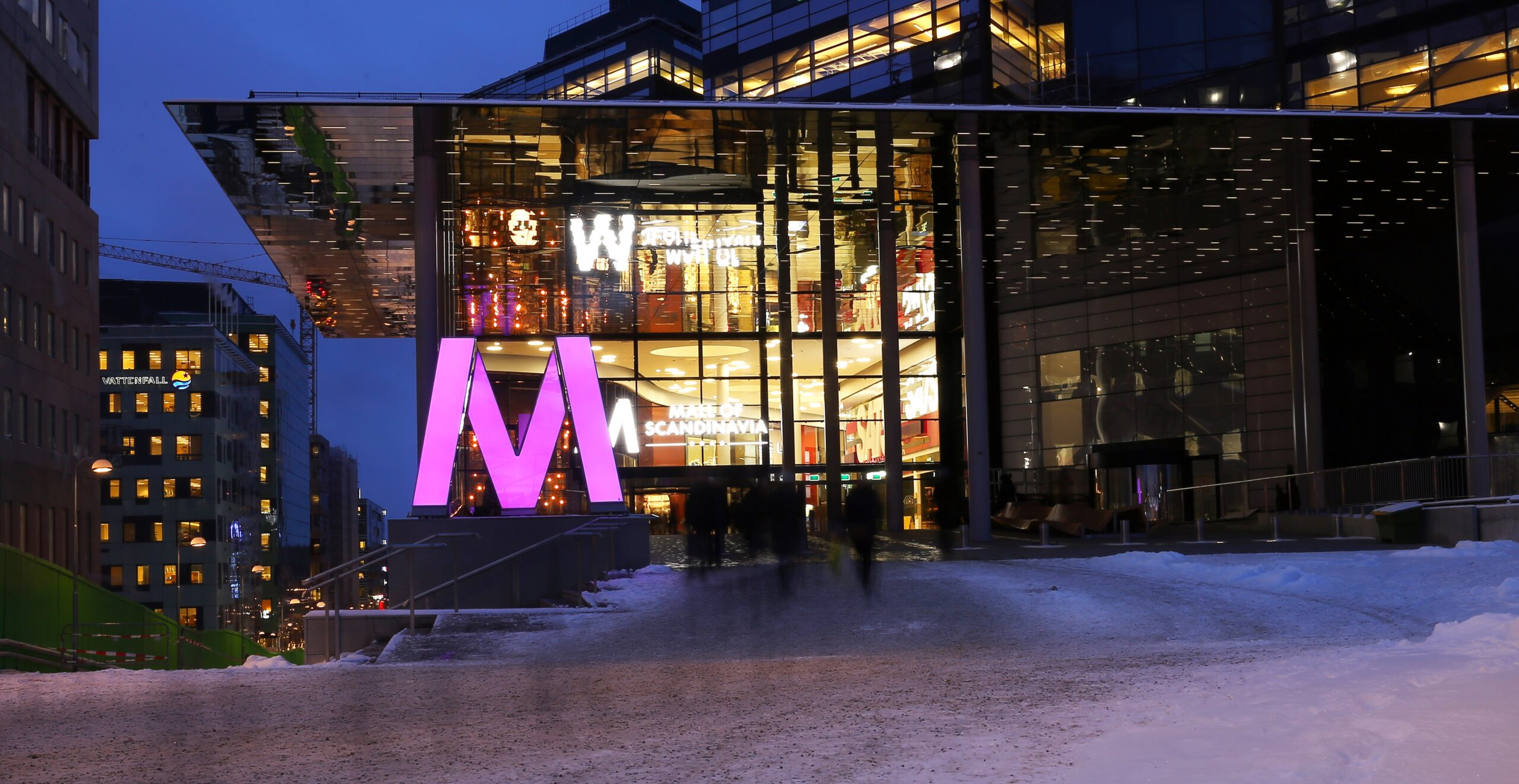 Fasadglas Mall of Scandinavia